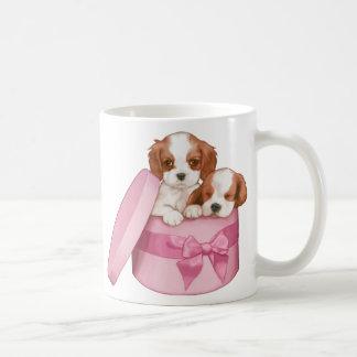 Caneca De Café Filhotes de cachorro do rei Charles