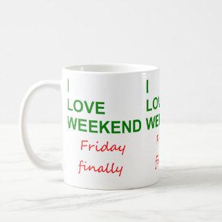 Caneca De Café Fim de semana do amor