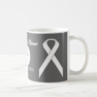 Caneca De Café Fita padrão branca Tmpl por Kenneth Yoncich