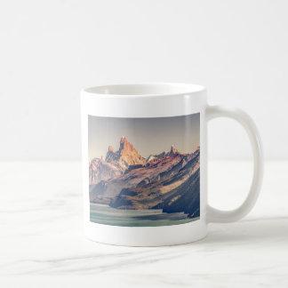 Caneca De Café Fitz Roy e Patagonia das montanhas de Poincenot