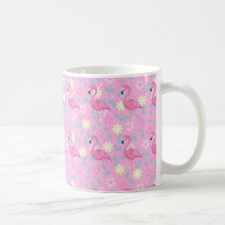 Caneca De Café Flamingo floral