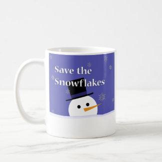 Caneca De Café Flocos de neve bonitos da economia do boneco de