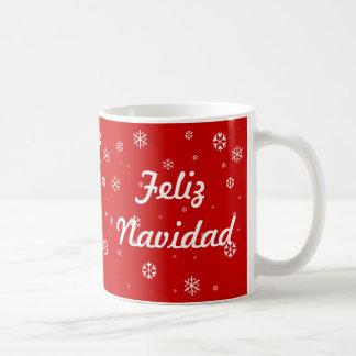 Caneca De Café Flocos de neve de Feliz Navidad