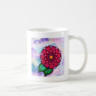 Caneca De Café Flor bonita brilhante da aguarela