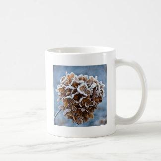 Caneca De Café Flor com cristais de gelo