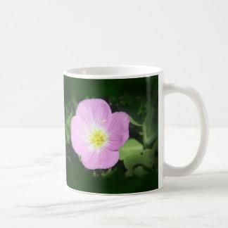 Caneca De Café Flor cor-de-rosa da prímula de noite