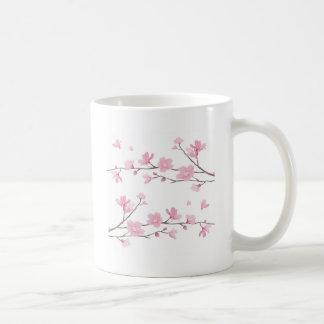Caneca De Café Flor de cerejeira - fundo branco