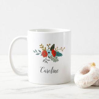 Caneca De Café | floral referente à cultura norte-americana