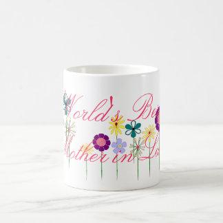 Caneca De Café Flores brilhantes da melhor sogra do mundo para