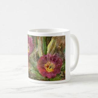 Caneca De Café Flores cor-de-rosa do deserto da arizona