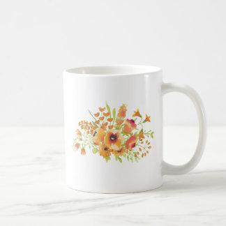 Caneca De Café Flores das aguarelas