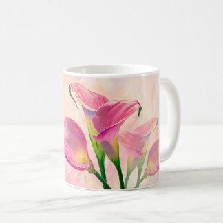 """Caneca De Café """"Flores dos Callas cor-de-rosa"""" -"""