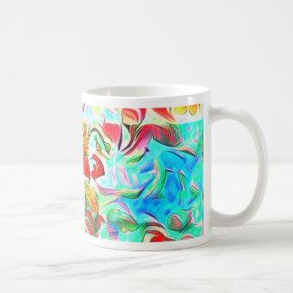 Caneca De Café Flores na água