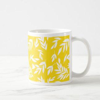 Caneca De Café Flores no amarelo do mel