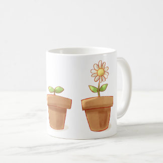 Caneca De Café Flowerpot bonito
