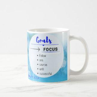 Caneca De Café Foco em seus objetivos!