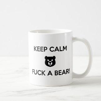 Caneca De Café Foda um urso