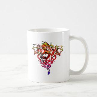 Caneca De Café Fogo abstrato que respira o dragão tribal