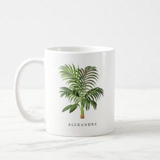 Caneca De Café Folhas de palmeira do vintage