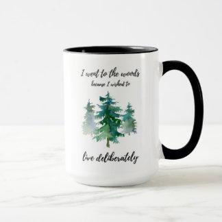 Caneca de café fora rústica da aguarela das