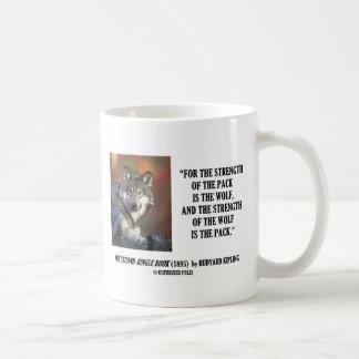 Caneca De Café Força de Rudyard Kipling das citações do lobo do