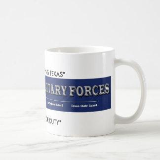 """Caneca De Café forças militares de texas, """"TEXANS que SERVEM"""