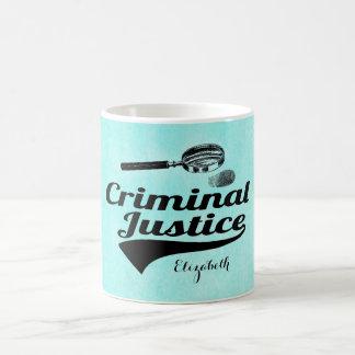 Caneca De Café Formando de justiça de Criiminal do monograma