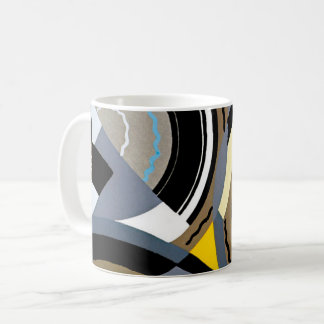 Caneca De Café Formas geométricas do jazz de Pochoir do art deco