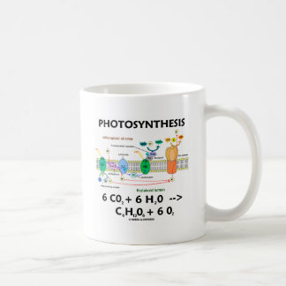 Caneca De Café Fórmula da fotossíntese (produto químico)