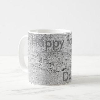 Caneca De Café Fóssil feliz dos peixes do dia dos pais
