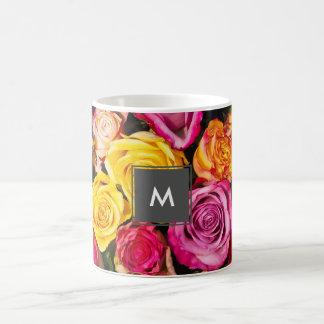 Caneca De Café foto colorida à moda elegante bonita dos rosas