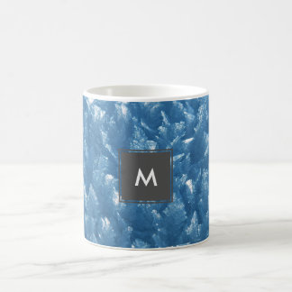 Caneca De Café fotografia azul fresca bonita dos cristais de gelo