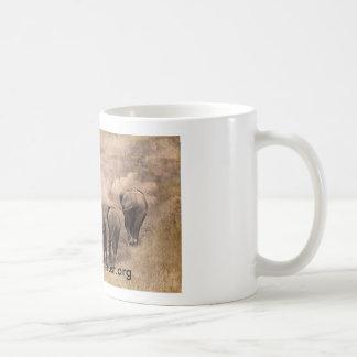 Caneca De Café Fotografia da arte da família do elefante