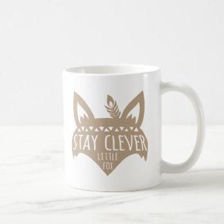 Caneca De Café Fox, Fox pequeno inteligente da estada