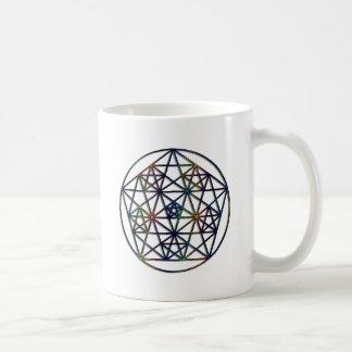 Caneca De Café Fractal sagrado da geometria da abundância da vida
