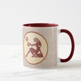 Caneca de café frente e verso de Brown do Virgo do