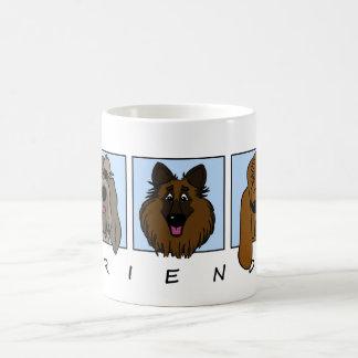Caneca De Café Friends: Spinone Italiano, Tervueren, Bloodhound