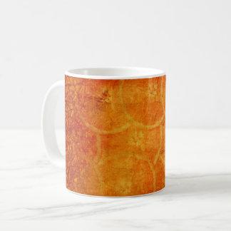 Caneca De Café fundo abstrato da laranja