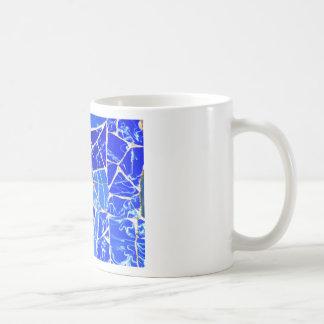 Caneca De Café Fundo azul abstrato