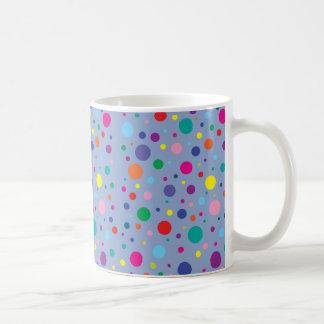 Caneca De Café Fundo Clr da polca Dots|Serenity Blue|Customized