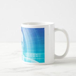 Caneca De Café Fundo da molécula como um conceito do abstrato da