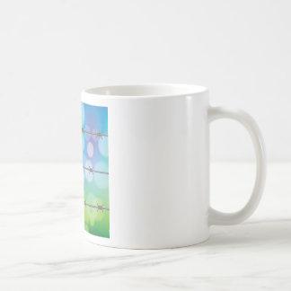 Caneca De Café fundo do arame farpado