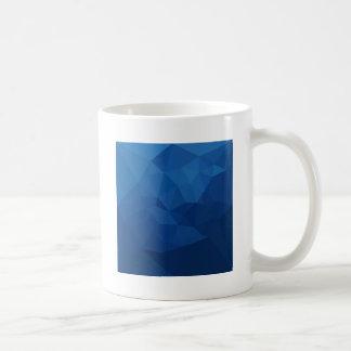 Caneca De Café Fundo do polígono do abstrato egípcio do azul