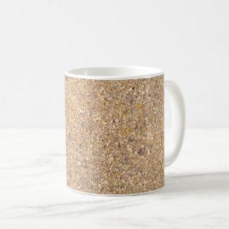 Caneca De Café Fundo Textured do teste padrão de Tan rocha de