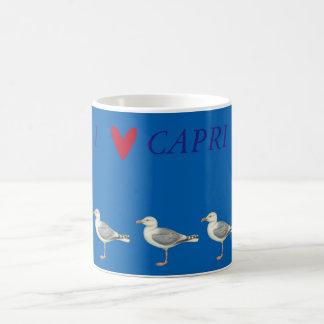 Caneca De Café Gaivotas em um fundo azul - Capri