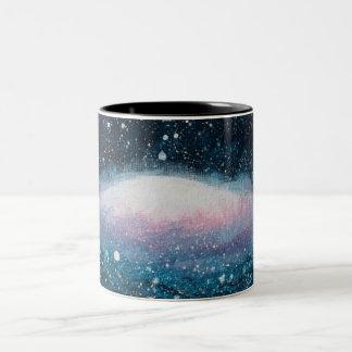 Caneca de café galáctica do disco
