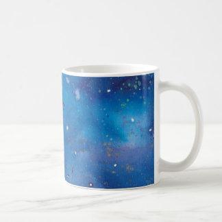 Caneca De Café Galáxia azul escuro