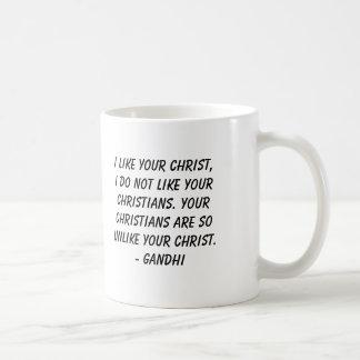 Caneca De Café Gandhi, eu gosto de seu cristo, mim não gosto do