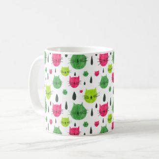 Caneca De Café Gatinho da melancia