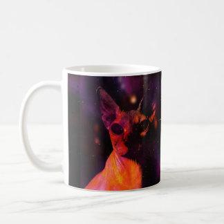 Caneca De Café Gato cósmico de Sphynx